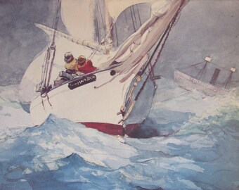 Winslow Homer, Diamond Shoal, Color Plate Of 1905 Watercolor, Unframed Print