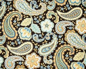 French Country Floral Paisley Timeless Treasures Cotton Fabric 1 yd