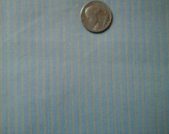 """Sale Gray and Med Powder Blue Striped Cotton Fabric Extra Wide 62"""" x 36"""""""