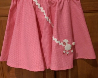 Pink Poodle Twirly Skirt