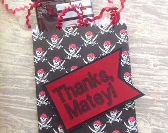 Pirate Favor Bags - Set of 8