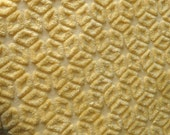 Hofmann Sunshine Yellow Floral Vintage Cotton Chenille Bedspread Fabric 24 x 12 Inches