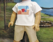"""Fun in the Sand Outfit for 18"""" Boy Doll"""