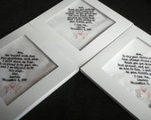 Wedding handkerchief set of 3 - Mix and Match - Custom - Each under 40 words -Special Occasion - Machine Embroidered  - gift boxes