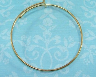 1 GOLD Bangle Bracelet Blank 7 3/4 inch Expandable Add Charms Gems Initials for Best Friend Mother Bridesmaid Gifts Jewelry Supplies