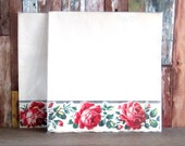 Vintage Shelf Liner with Fold Over Edge - Roses