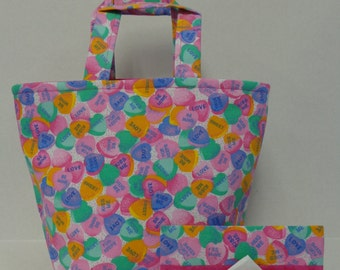 Candy Hearts Valentine Tote Bag