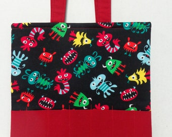 Little Monsters Crayon Tote