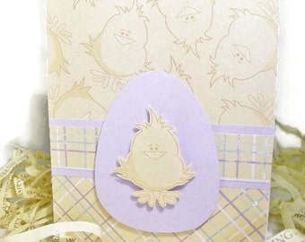 Handmade Easter Card Yellow Chick