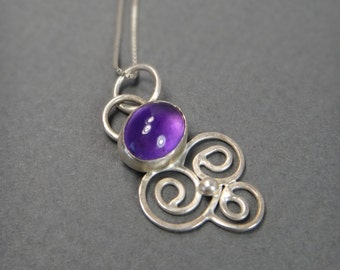 Purple Clouds Necklace