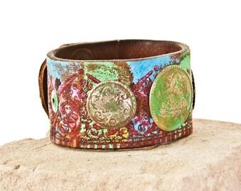 Leather Jewelry, Leather Cuff, Leather Bracelet, Leather Wristband, Wrist Cuffs