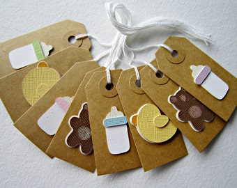 Set of Eight Baby Gift Tags