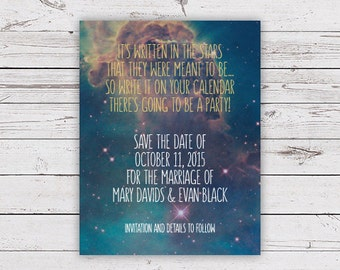 Printable Wedding Save the Date - Galaxy