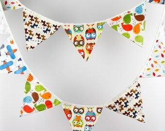 3.2M 12 Candy flags Cartoon Bunting Party Birthday Show Handmade Decoration Photo Prop Cotton Fabric Garland Vintage Room Decor