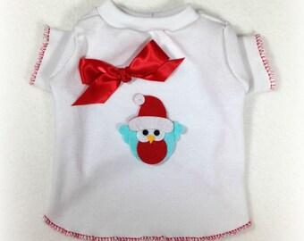 Wonder and Joy Christmas Dog Shirt Clothes Size XXXS through Medium by Doogie Couture