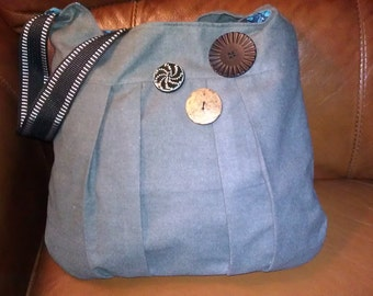 Clearance  Emma Gray Purse with Button Detail