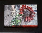 Art Quilt, Photography, Fiber Art, Framed art, mixed media, collage art, fiber collage, Textile art, photography