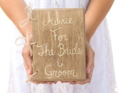 Rustic Guest Book Advice Book Shabby Chic Wedding Decor Bridal Shower QUICK shipping available
