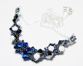 "Hunger Games Inspired Swarovski Crystal Necklace Beadweaving Sterling Silver -  ""Mockingjay"""
