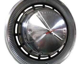 1970 Chrysler New Yorker Newport Hubcap Clock - Retro Automotive Wall Decor - Classic Car Hub Cap