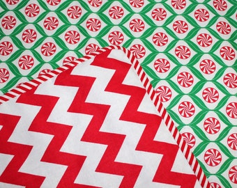Peppermint Candies Red White Chevron Holiday Story Time Toddler Blanket Add Personalization Baby Christmas Blanket Gift