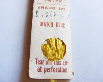 Antique 1904 Silk Embroidery Floss Belding Bros. Royal Floss Silk Freesia Yellow