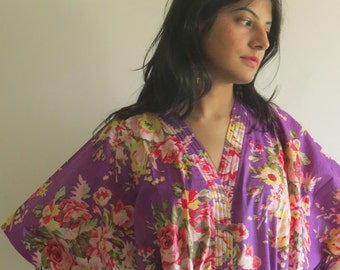 Purple dream - Nursing Kaftan - Perfect as loungewear, as beachwear, gift for moms and to be moms and more
