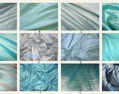 Luxurious Dupioni Silk Custom Pillow Covers Made from the Finest Pure Hand Made Dupioni Silk - Aqua Blue, Turquoise