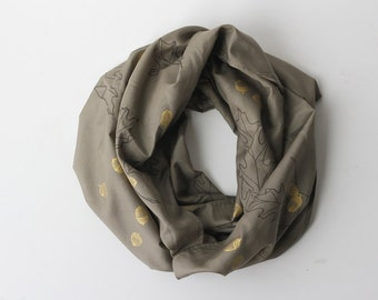 Silk/Cotton Infinity Scarf - Oak & Acorn