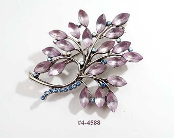 FREE SHIP Brooch -  Lovely Lavender and Blue  (4-4588)