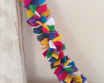 felt garland - 4 ft - bright colors - anthropologie inspired