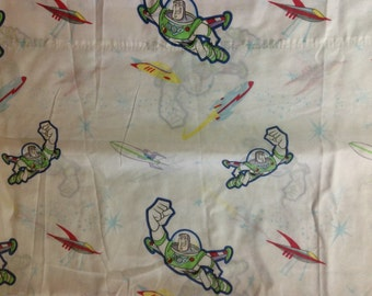 Toy Story Buzz Lightyear twin single flat bed  sheet     Disney Pixar