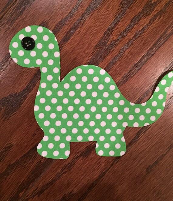 Dinosaur Iron On Applique, You Choose Fabric