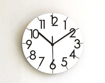 Black White Simple Minimalist Modern Wall Clock