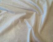 Ivory Glitter Stretch Velvet Fabric