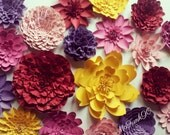 Weddings Handmade Large Paper Flowers Great for Photo Backdrop 6 to 10 inches