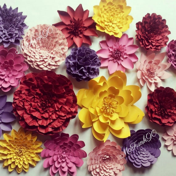 Weddings Handmade Large Paper Flowers Great For Photo Backdrop
