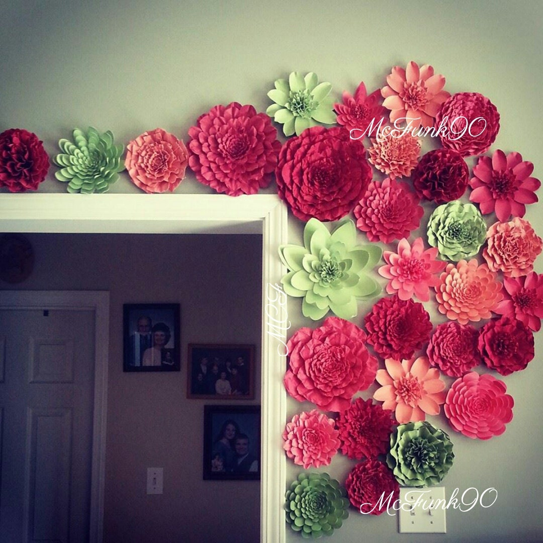 Weddings Large Paper Flowers Perfect For A Photo Backdrop In