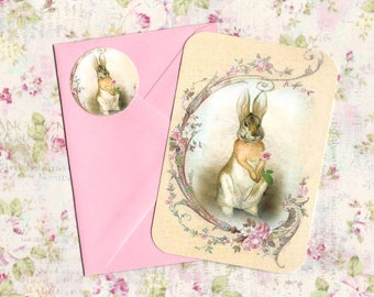 Note Cards - Rabbit Note Cards - Vintage Style Cards