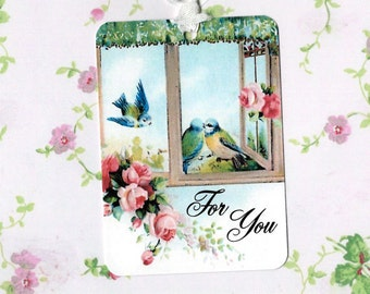Tags - Blue Bird Gift Tags - For You