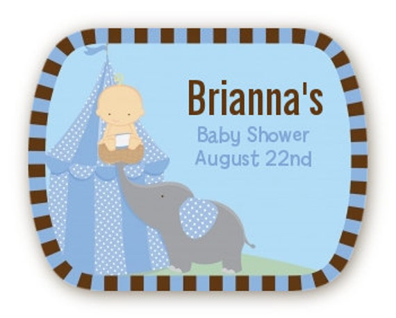 our little peanut boy girl baby shower personalized mint tin labels