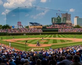 """Chicago Photography - """"Wrigley Field"""" - 11x14 Print on Lustre Paper, matted to 16x20 - fits in standard frame"""