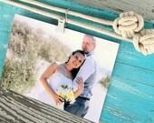 Beach Theme Decor - Nautical Picture Frame - Photo Holder - Beach Picture Frame - Nautical Photo Frame - Coastal Wedding Decor Custom Color