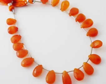 Carnelian Gemstone Faceted Briolettes - Qty 20