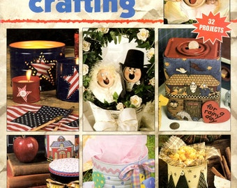 Can Do Crafting Trash to Treasure Soda Can Bride Groom Metal Bank Candle Holder Coffee Easter Basket Craft Pattern Leaflet Leisure Arts 1840