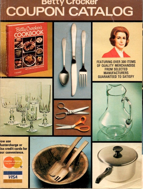 Betty crocker coupon redemption catalog vintage 1970s grocery for Ella s kitchen coupons