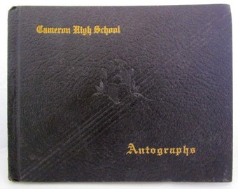 Cameron High School 1938 Cameron Oklahoma Autograph Book High School Memories