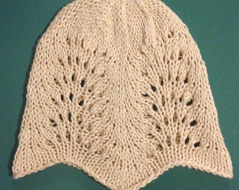 Lacy White Toddler Hat