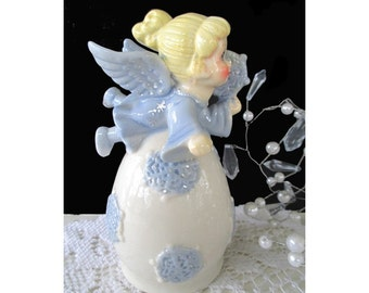 SNOWFLAKE ANGEL BELL * Angel Decor * Winter Angel