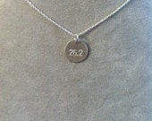 Marathon or half-marathon necklace, 5K, 10K,  ironman -- sterling silver -- name your distance and size